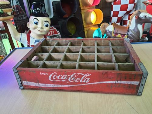 Wood Box Coca-Cola Red