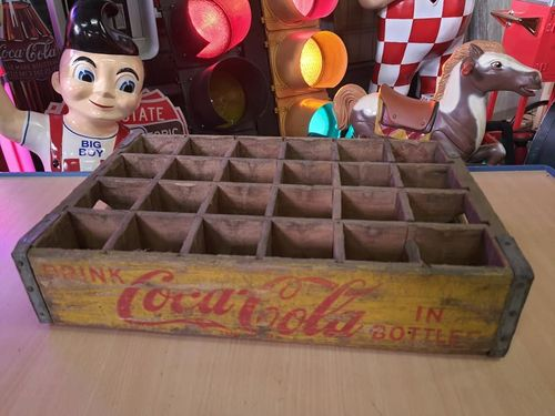 Wood Box Coca-Cola Yellow