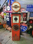 Reproduction American Gas Pump - Harley Davidson
