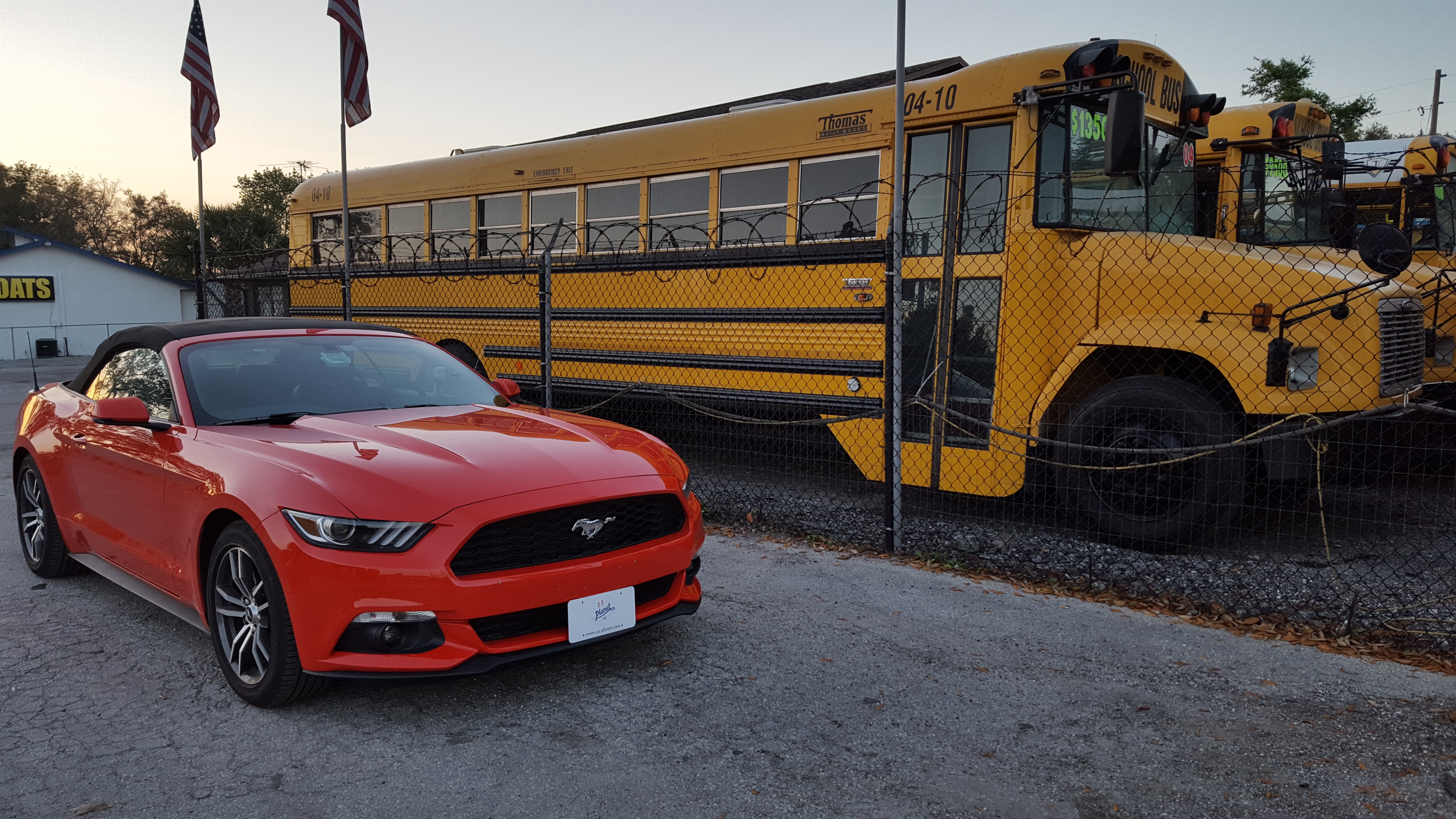 Importation de school bus américain - Import de Ford Mustang de collection